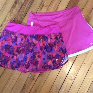 Nike and Head Skort Bundle